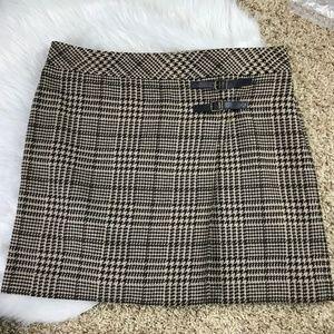 Ann Taylor Loft 14 Lined Wool Blend Side Zip Skirt